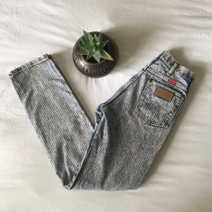 Rare Vintage Pinstriped Wrangler High Rise Jeans